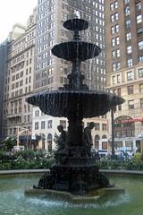 NYC - Brooklyn - Downtown: Columbus Park Fountain (wallyg) Tags: nyc newyorkcity newyork fountain brooklyn boroughhall downtownbrooklyn beauxarts columbuspark kingscounty nationalregisterofhistoric