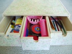 knitting storage - top drawers