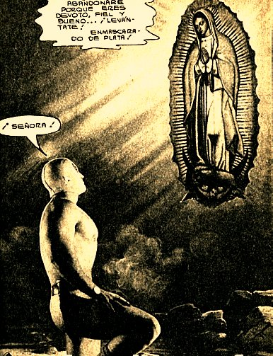 Santo's team-up with the Virgin Mary