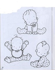 Babys (Lucia Helena Cesar) Tags: feltro desenhos figuras riscos moldes patchcolagem