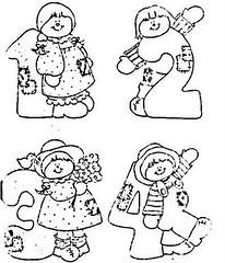 1-2-3-4 (Lucia Helena Cesar) Tags: feltro desenhos figuras riscos moldes patchcolagem