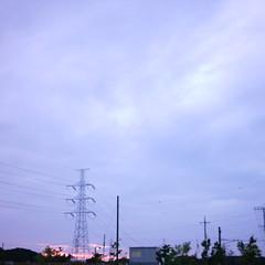 【写真】ミニデジで撮影した日没の空