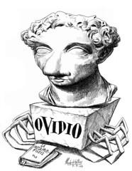 OVIDIO, Publio Nasón (Morales de los Ríos) Tags: writers caricaturas philosophers caricatures escritores filósofos