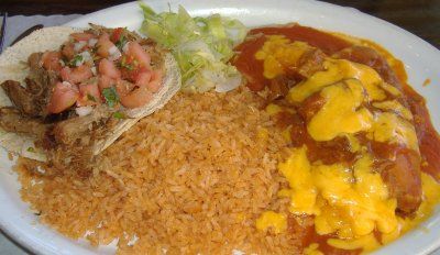 Ernie Jr.'s Taco House - Tamale and Taco Combo