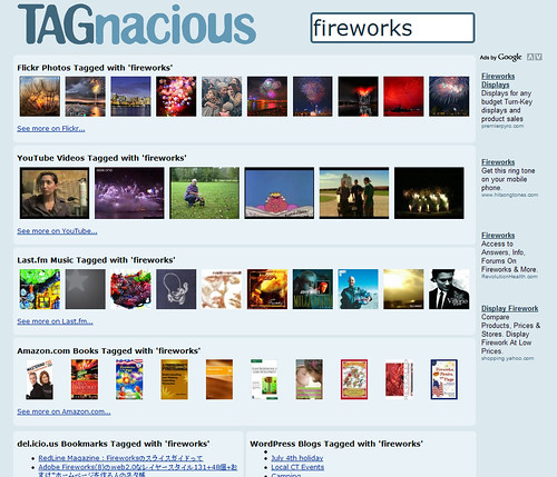 Screenshot of the Website Tagnacious