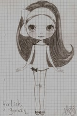 Girlish Breath (Blythemaniaco) Tags: fashion pen pencil doll moda drawings designs blythe projects custom dibujos diseo mueca proyectos lpiz scketches bocetos boligrafo