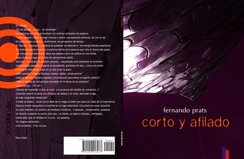 Corto y afilado spread (poetry book)