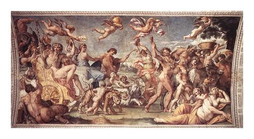 03b-Triunfo de Baco y Ariadna  fresco original
