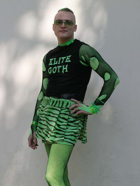 Elite Goth - man in skirt