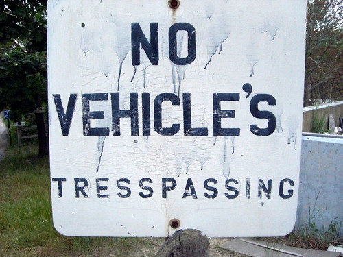 no vehicle's