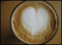 My first latte art june 2008 (Zandgaby) Tags: brown white cup coffee closeup heart cream kaffee sugar foam latte latteart glas macchiato milchkaffee cafaulait lattemacchiato zandgaby gabymichels