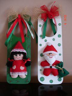 Menina e Papai Noel por nanarteira.