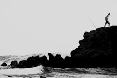 La puissance de la mer (Emmanuele Contini) Tags: sardegna sea mer nature silhouette fisherman mare sardinia power natura potenza pescatore puissance foghe contnibb