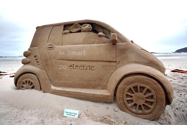 Smart Car Sand Castle