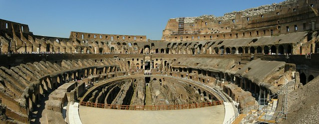 Panoramic view of the Colosseum