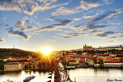Sunset at Charles Bridge, Vltava River and Castle, Prague (Edgar Barany) Tags: bridge sunset castle rio river de atardecer nikon europe czech prague prag charles praha praga castelo czechrepublic 1001nights vltava castillo hrad ceskarepublika karluv praguecastle republicacheca mesto ceska nikond200 barany ceskarepublica prazkyhrad prazky ysplix theunforgettablepictures praguebridge edgarbarany pragacastillocastleprazky