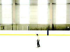 Good Times (o K o) Tags: windows light ice yellow high key zombie skating rink