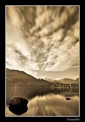 Ullswater. (numanoid69) Tags: longexposure lake mountains sepia reflections landscape nationalpark lakedistrict cumbria fells ullswater almostanything nikond300 extremeneutraldensity nd1000filter 10stopfilter prideofengland