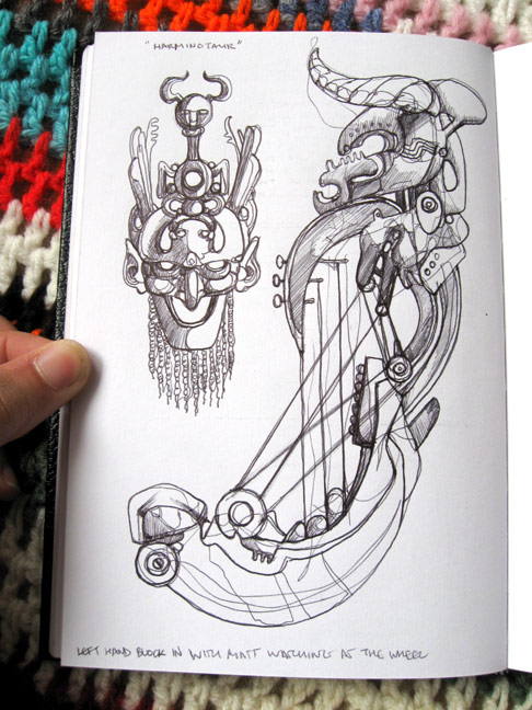 Harminotaur-Sketchbook-Page