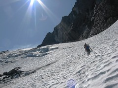 Descending the Jerry Glacier