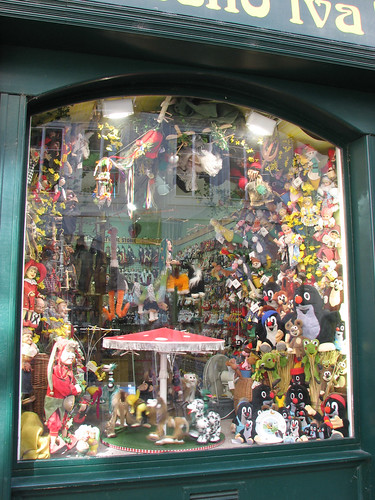 Puppet shop in Prague