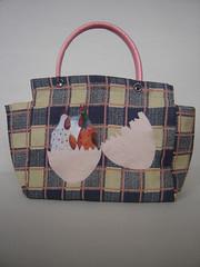 BOLSA NINHO ROMNTICO*** (OXIL ART) Tags: ninho corao reciclagem ovo romntico xadrez galinhas ecobag bolsasretornveis sacolasecolgicas