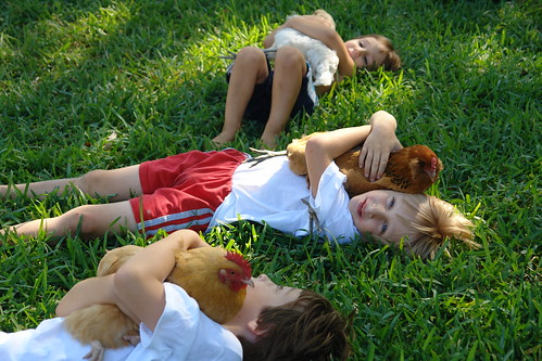 Girls and Boys in the Grass