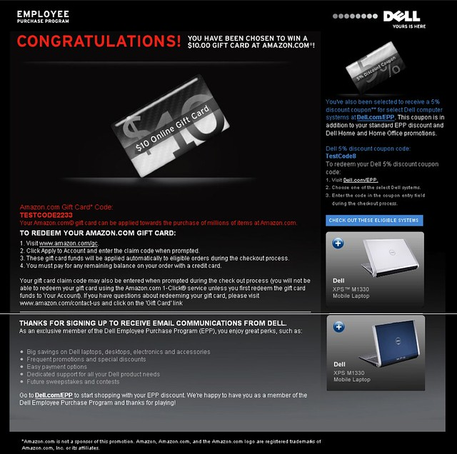 Dell EPP Summer Instant Win Site by tenfour archive