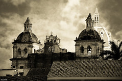 San Pedro Claver (dani.Co) Tags: city trip summer vacation building church stone sepia america amrica nikon holidays colombia cathedral cartagena cartagenadeindias danico