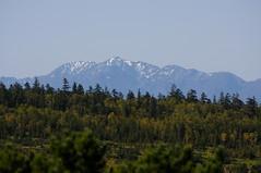 雪化粧の芦別岳