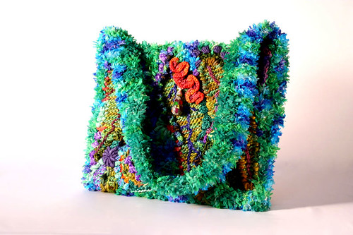 freeform bag over rug canvas