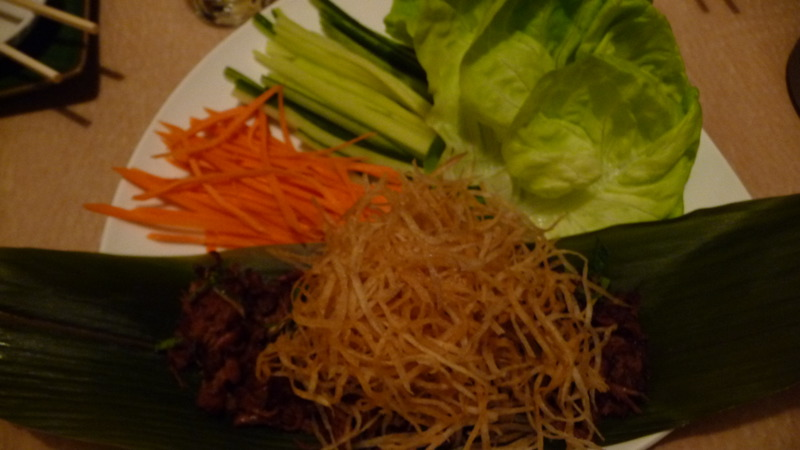 Mint spare rib lettuce cup