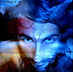 My Glaciation Process  (yusuf_alioglu) Tags: world wood blue red portrait sky selfportrait color colour tre