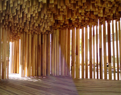 David Adjaye's Sclera A Tulipwood Pavilion