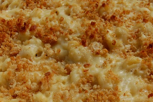 Homemade mac n cheese - close up