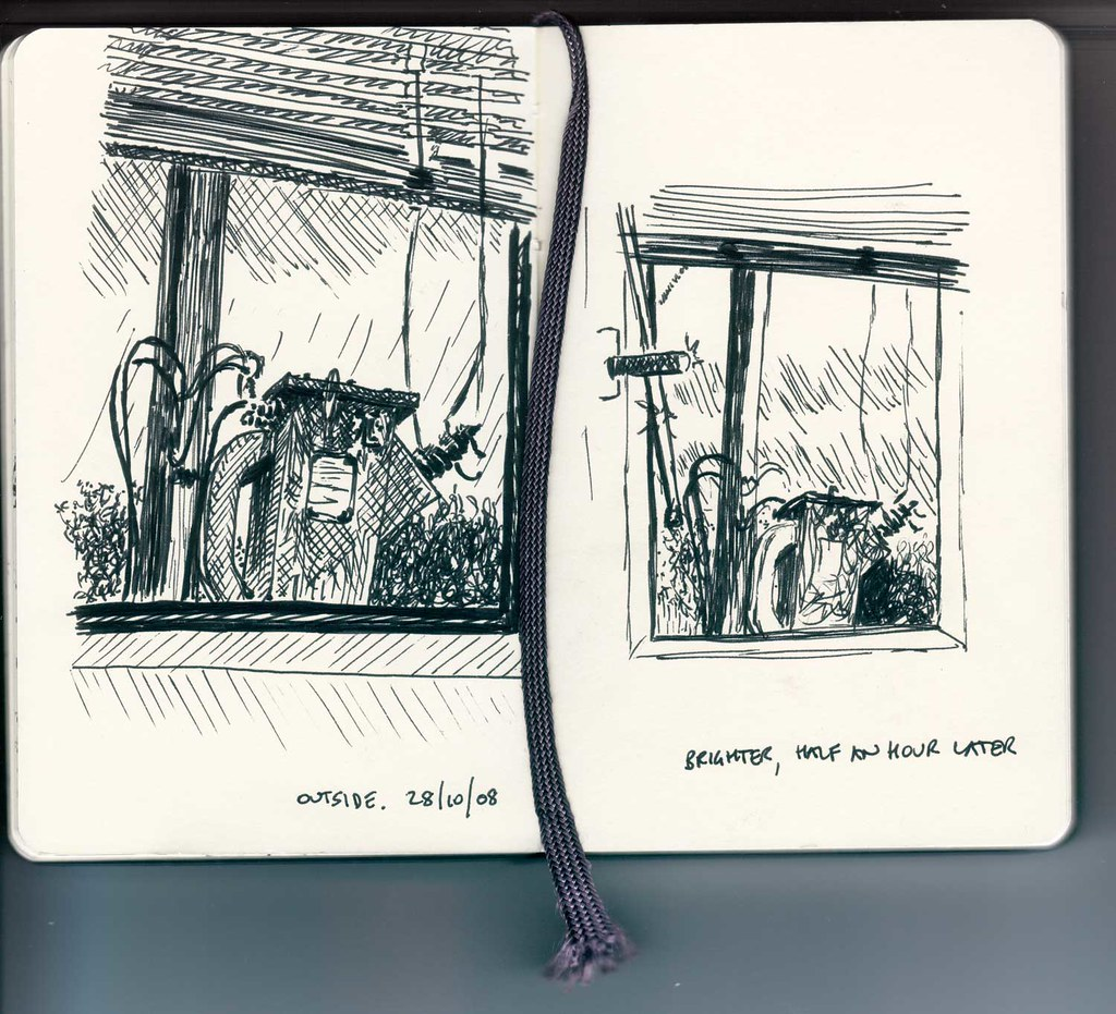 Office window sketches