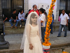 I hate to imagine what state the groom was in (Two on a bike) Tags: oaxaca mexicans oaxacan mexicanpeople