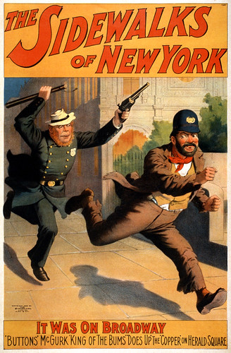 The sidewalks of New York, Broadway poster, 1896 / trialsanderrors