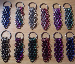 dragonscale keyrings (hwkwlf) Tags: dice lamp bag persian necklace belt clothing keyring candle dress cross mail head euro awesome earring battle jewelry sash ring full chain half bracelet sheet candleholder jpl choker chainmail holder barrette headdress gsg maille kaede anodized forars hawkwolf