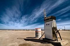 dusty (sadaiche (Peter Franc)) Tags: dusty clouds lab barrel rusty dramatic wideangle mobil roadtrip petrol fuel gaspump nullarbor