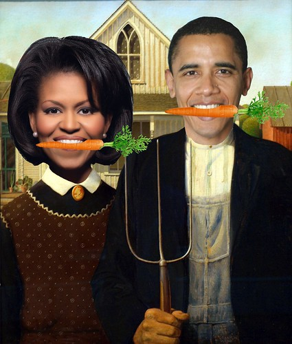 Obamas' American Gothic - high resolution