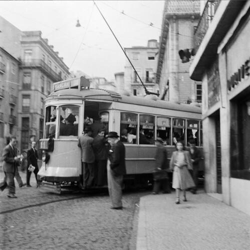 Carro eléctrico da Graça, Martim Moniz, [c. 1950]