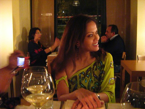 Ida Nerina during dinner