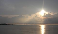 Sunset @ Port Dickson ((NORA)) Tags: ocean sunset sea vacation sun beach clouds ships malaysia portdickson negerisembilan golddragon platinumphoto