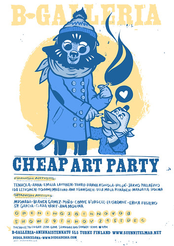 Cheap art party at B-Galleria (Finland)