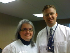 Diane Serley and Wesley Fryer at MASSCUE 2008