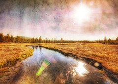 Meandering Through Life (Stuck in Customs) Tags: sky panorama sun nature colors look lines yellow clouds composition reflections river landscape photography nikon montana colorful pretty shoot photographer shot angle image antique details d2x perspective picture meadow style peaceful textures glorious edge rivers processing pro yellowstone meditation wyoming framing portfolio capture tones hdr treatment stuckincustoms treyratcliff stucktextures narrowcanyons