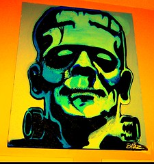 Frankenstein Painting by Chop Shop Garage / Frank Stein