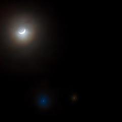 Luna, Venus and Jupiter... in symphony together! (Rex Maximilian) Tags: sky moon night hawaii venus oahu halo luna astronomy honolulu jupiter plantet planetaryconjunction celestialevent appulse