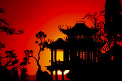 China (frogoll) Tags: china sunset red silhouette canon gradient ef 2470mm f28l